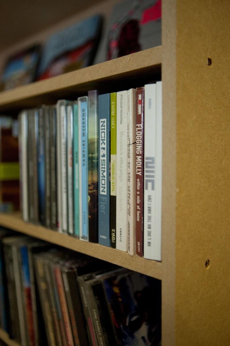 CD kast van verzamelkasten